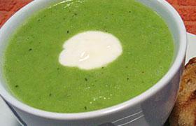Суп-пюре из зеленого горошка