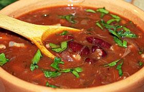 Фасолевый суп рецепт из красной