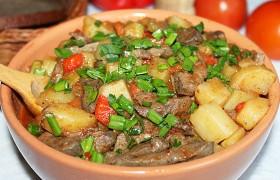 Рагу овощное с печенью индейки