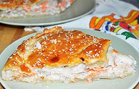 Пирог с начинкой из рыбы