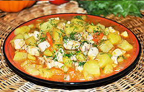 Рагу из курицы с картофелем