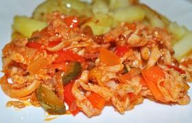 Быстрое блюдо из колбасы, сосисок
