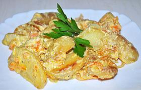 Картошка, запеченная в сливках