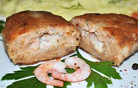 Рыбные котлеты с креветками