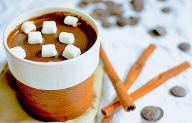 Горячий шоколад с корицей и медом