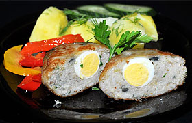 Рыбные котлеты с перепелиными яйцами