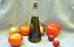 Зеленое растительное масло домашнее
