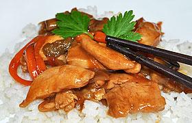 Курица стир-фрай с овощами и медом