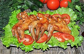 Карамелизованные куриные крылышки в духовке