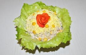 Салат из печени минтая с рисом