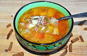 Овощной суп с мясным фаршем по-чешски