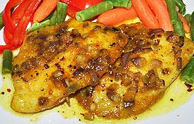 Запеченная белая рыба по-вьетнамски