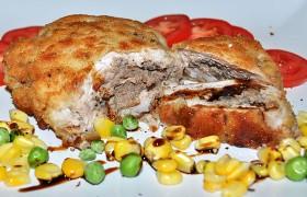 Куриное филе, фаршированное печенью