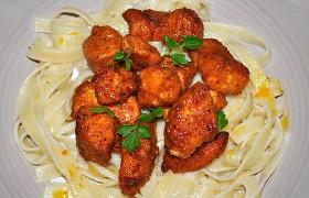Жареное куриное филе, панированное в сухарях