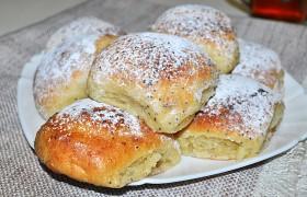 Творожные булочки с маком