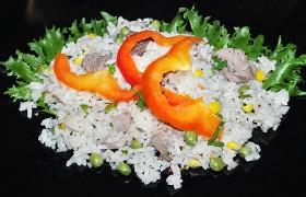 Свинина по-мексикански с рисом и кукурузой
