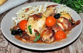 Курица с томатами по-средиземноморски – пошаговый фоторецепт