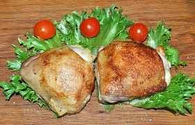 Жареная курица в соево-майонезном маринаде