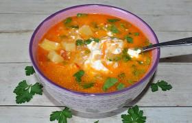Таджикский суп Бринчоба