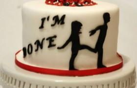Торт в честь развода