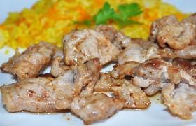 Вкусная жареная свинина за 6-7 минут