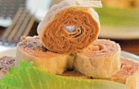 Закуски из лаваша с начинкой