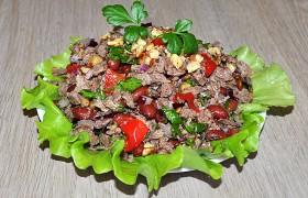 Салат с говядиной грузинский