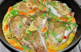 Курица с вином по-грузински