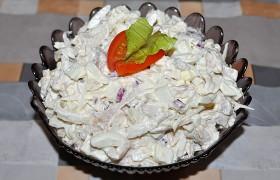 Куриный салат с редькой