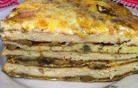 Закусочный торт с мясом и овощами