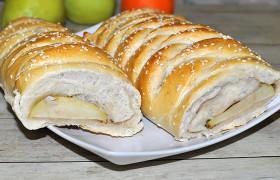 Пирог-плетёнка с яблоками