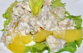 Рыбное рагу в лимонно-сливочном соусе