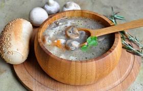 Суп из индейки с грибами и рисом
