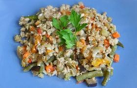 Быстрый ужин – фарш с овощами