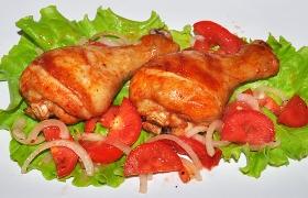 Куриные ножки в томатно-соевом маринаде