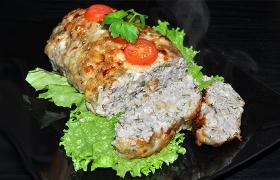 Мясной хлеб с сыром и зеленью