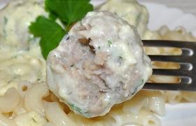 Мясные фрикадельки в сырно-сливочном соусе