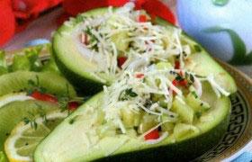 Авокадо с начинкой