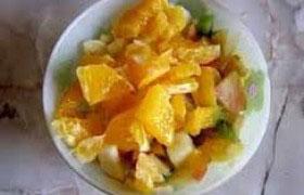 Салат из фруктов и сладкого перца