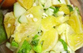 Апельсиново-огуречный салат