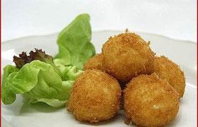 Бульон с картофельными крокетами