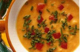 Холодный суп из помидоров