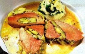 Мясо, запеченное с киви