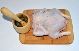 Пряная курица с запеченным картофелем