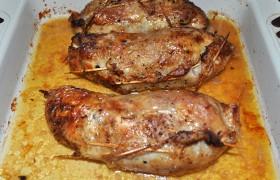 Куриные окорочка, фаршированные рисом