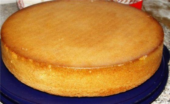 тонкий бисквит для торта