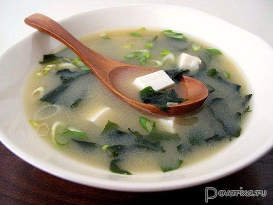 Cуп мисо с тофу – рецепт японского супа