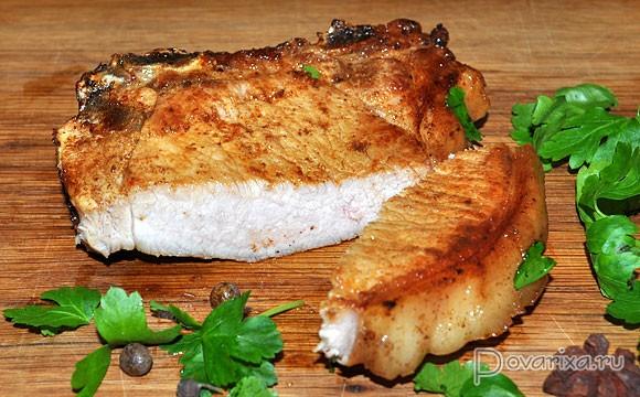 корейка жареная на сковороде