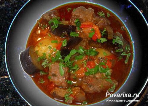 Соус с мясом и баклажанами — 9