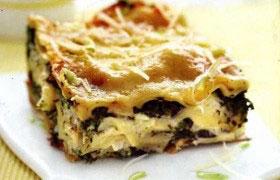 Лазанья (запеканка) с картофелем и шпинатом